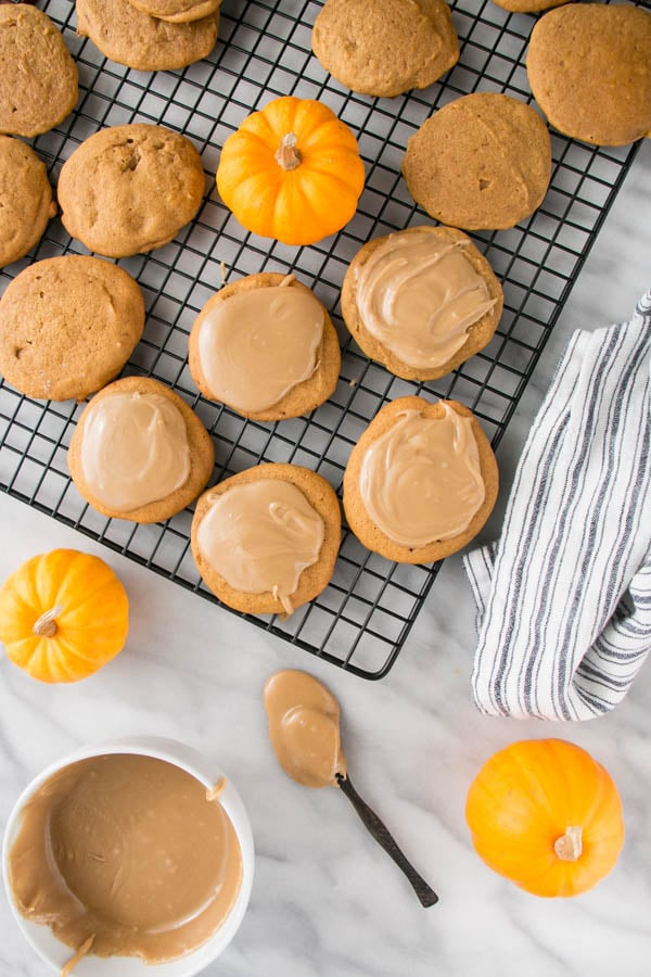 glazed pumpkin cookies