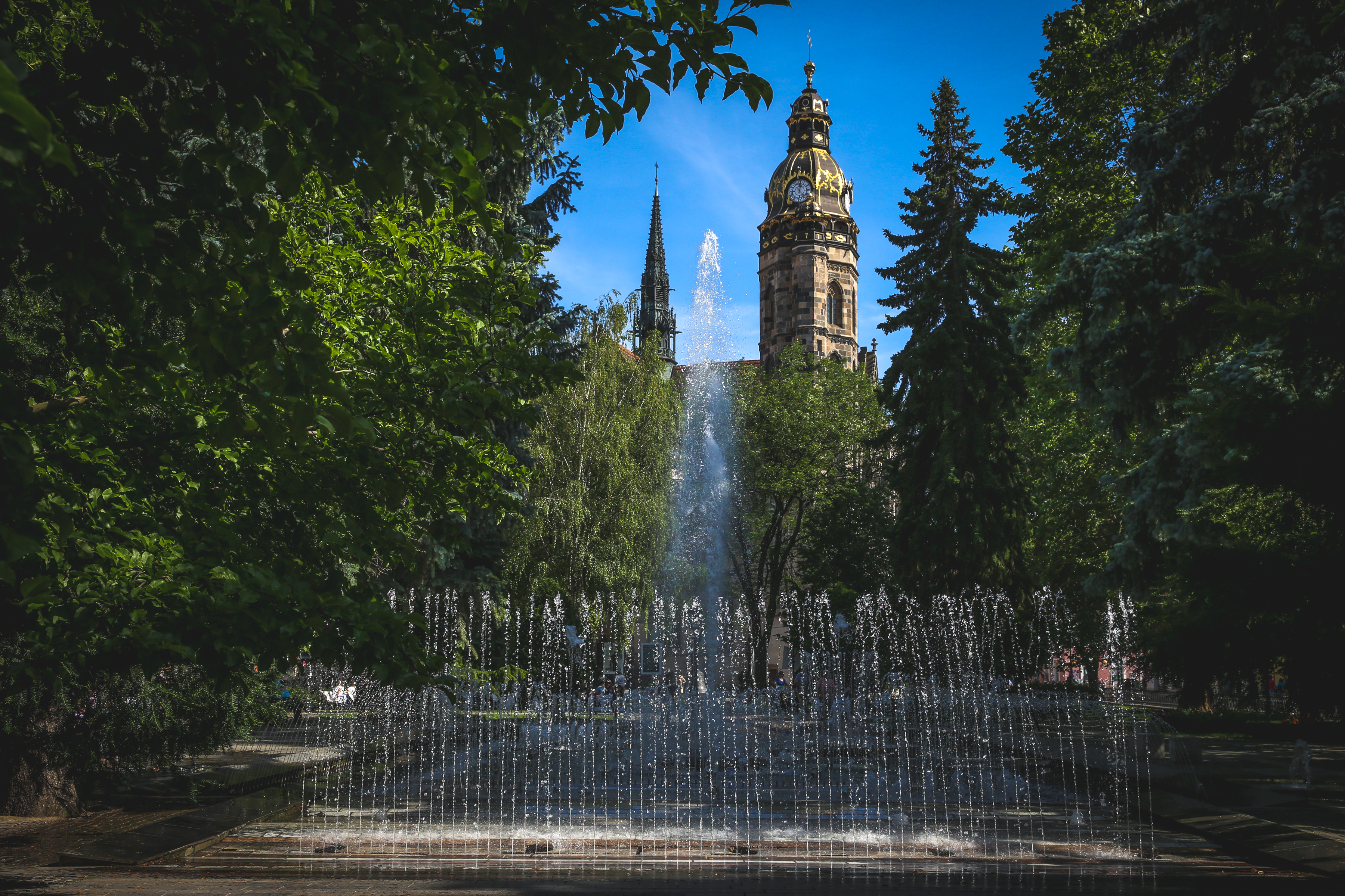 12 - cultural kosice - singing fountain and st elizabeth cathedral