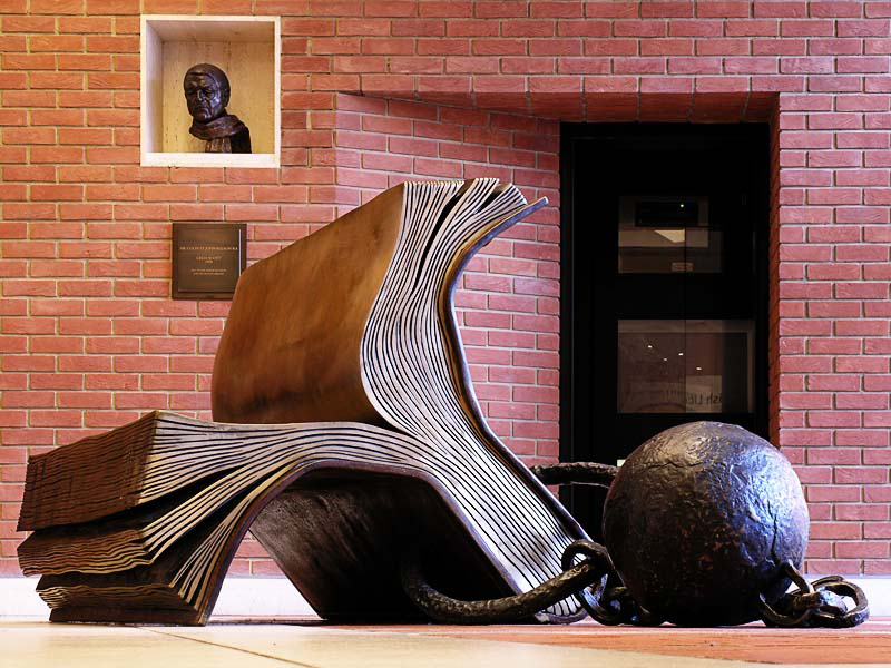 Sitting on History (1995) by Bill Woodrow