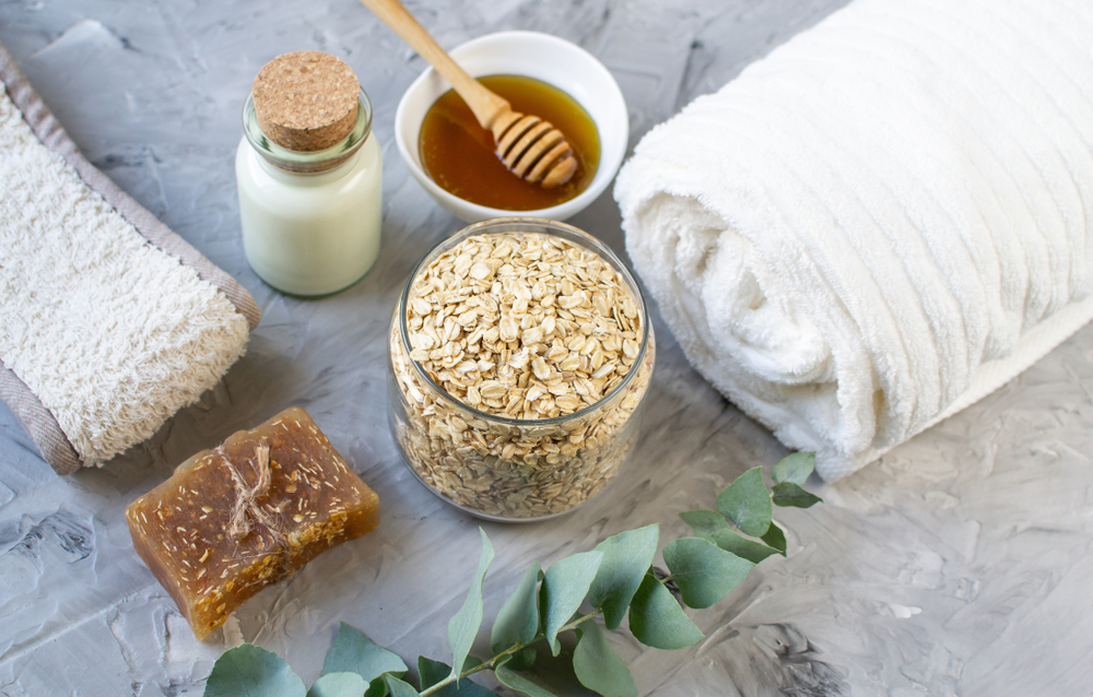 add oatmeal to your bath