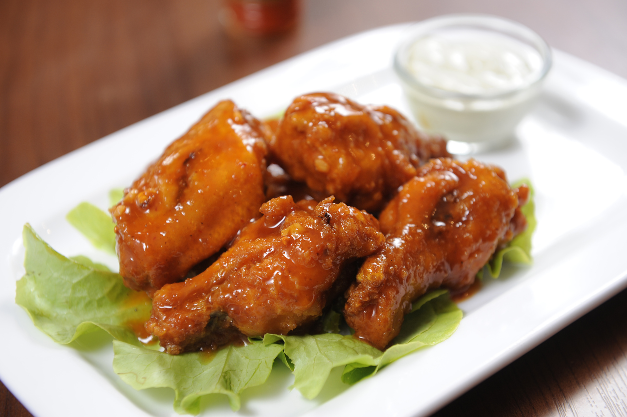 honey orange chicken wings
