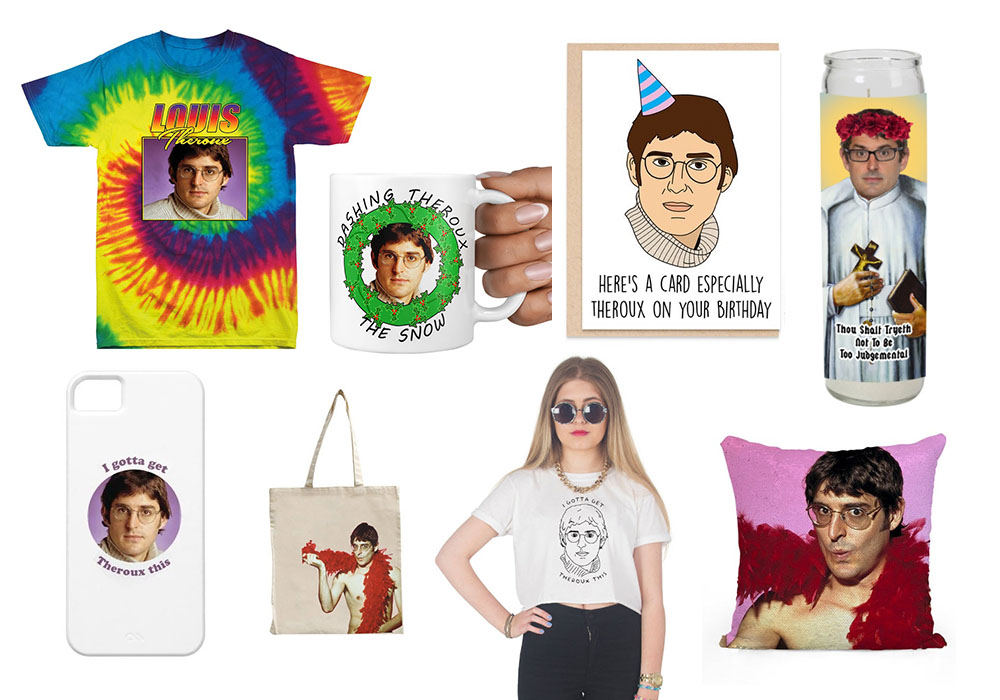 a selection of the louis theroux merchandise available on etsy