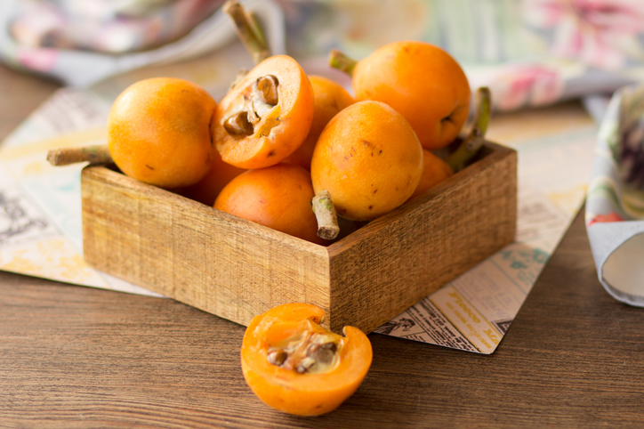 Loquats exotic fruit
