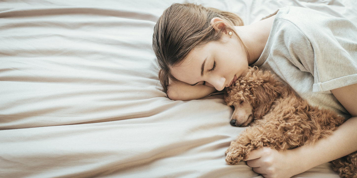 cuddling pet good for health