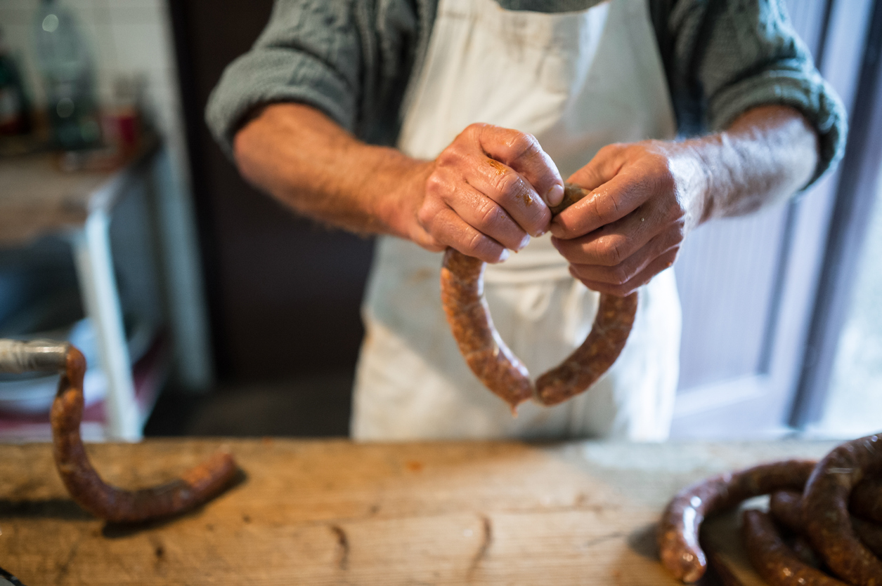 sausages made from offal