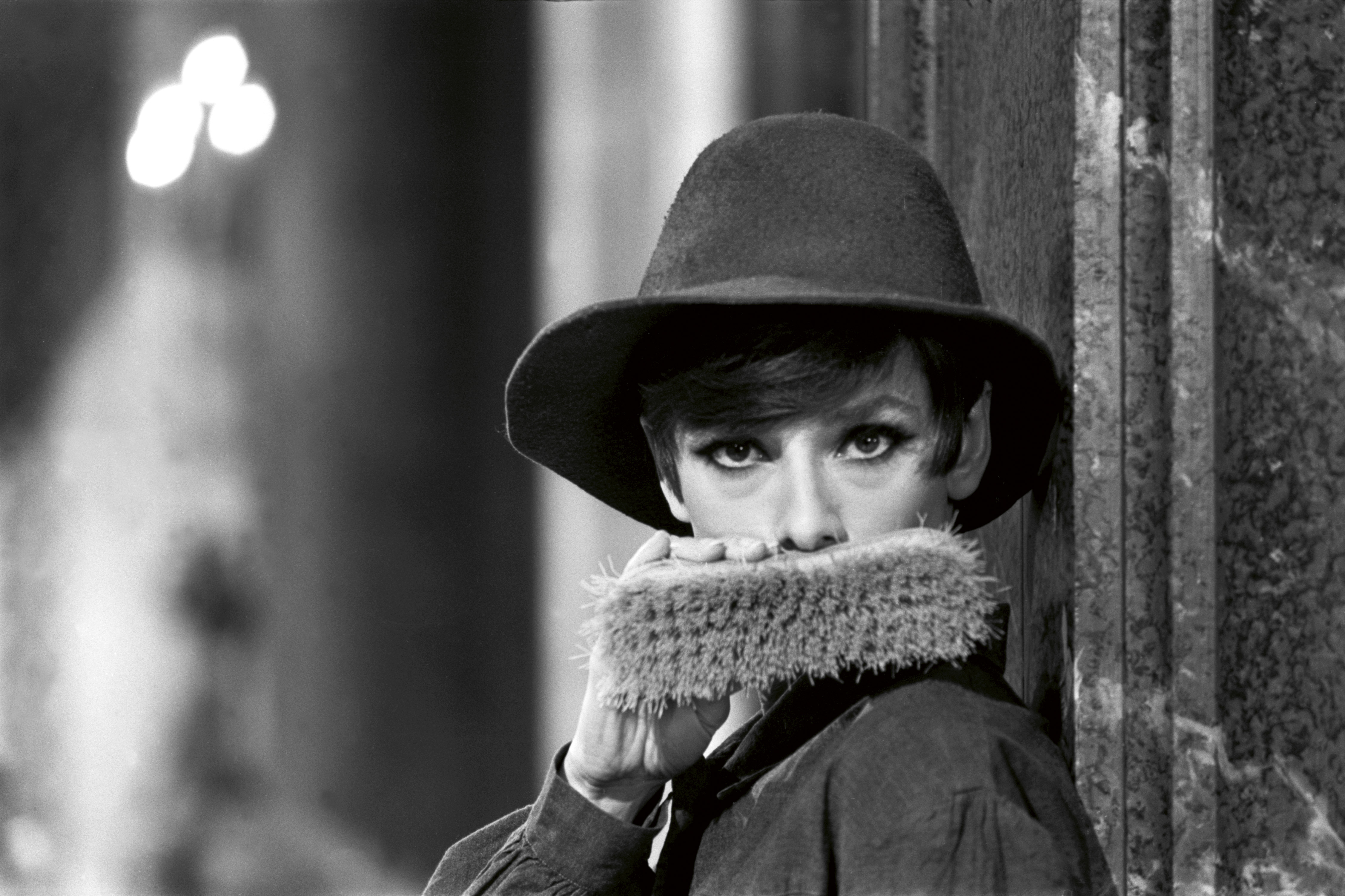 Audrey Hepburn fashion shot in hat