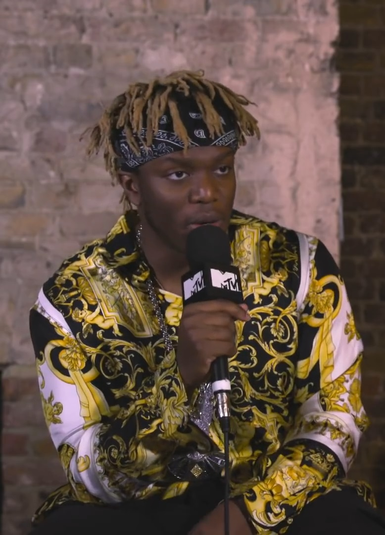 KSI being interviewed by MTV
