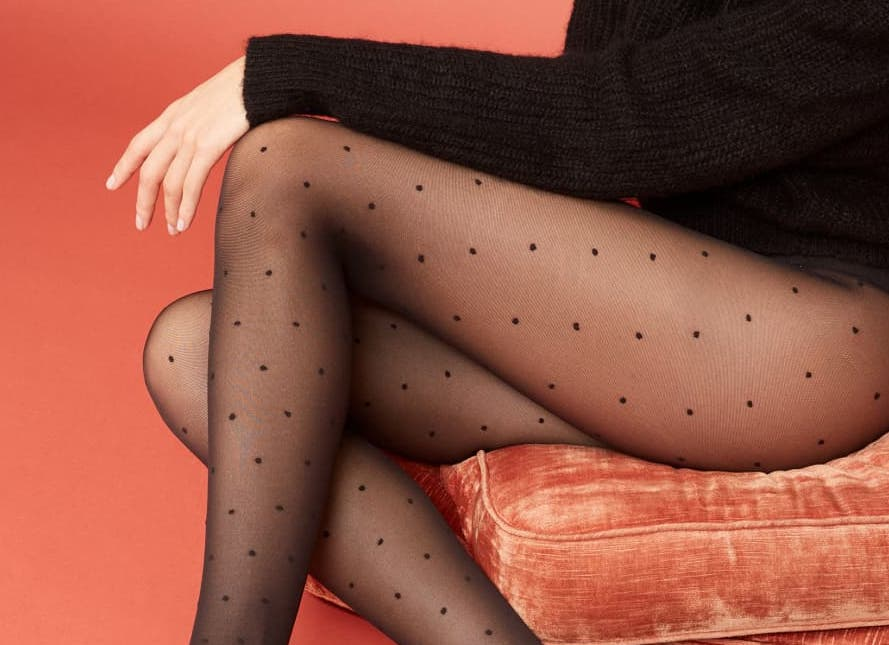 Dotted Doris tights by Swedish Stockings