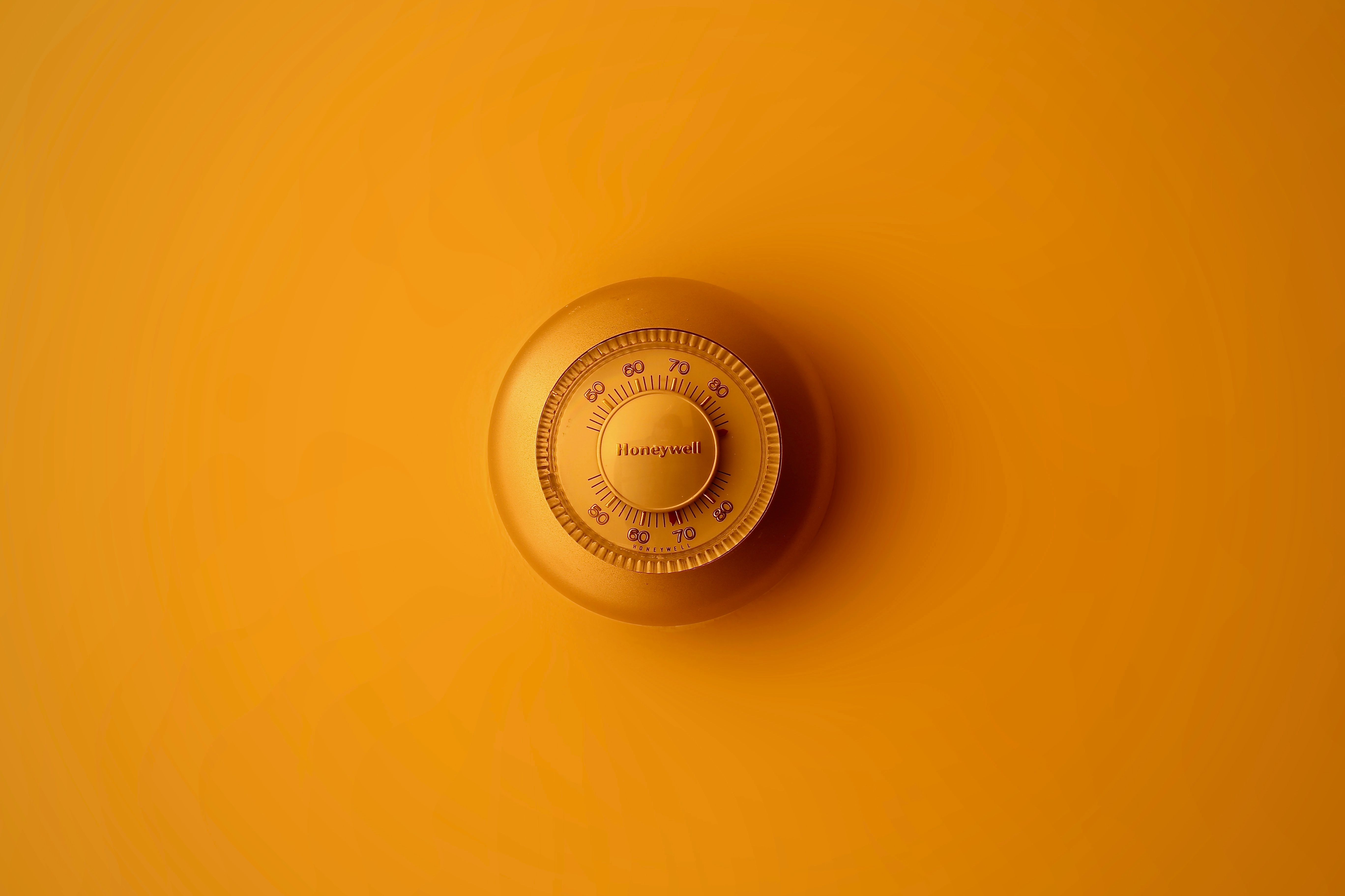 a turned down thermostat makes a big difference