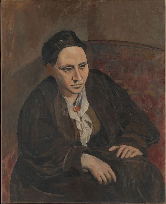 "Pablo Picasso, Portrait of Gertrude Stein, 1906, Metropolitan Museum of Art, New York. When someone commented that Stein didn't look like her portrait, Picasso replied, ""She will"".[48] Stein wrote ""If I Told Him: A Completed Portrait of Picasso"" (1923) in response to the painting."