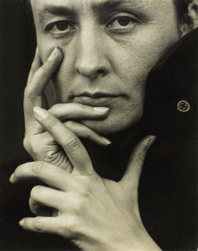 O'Keeffe in 1918, photograph by Alfred Stieglitz