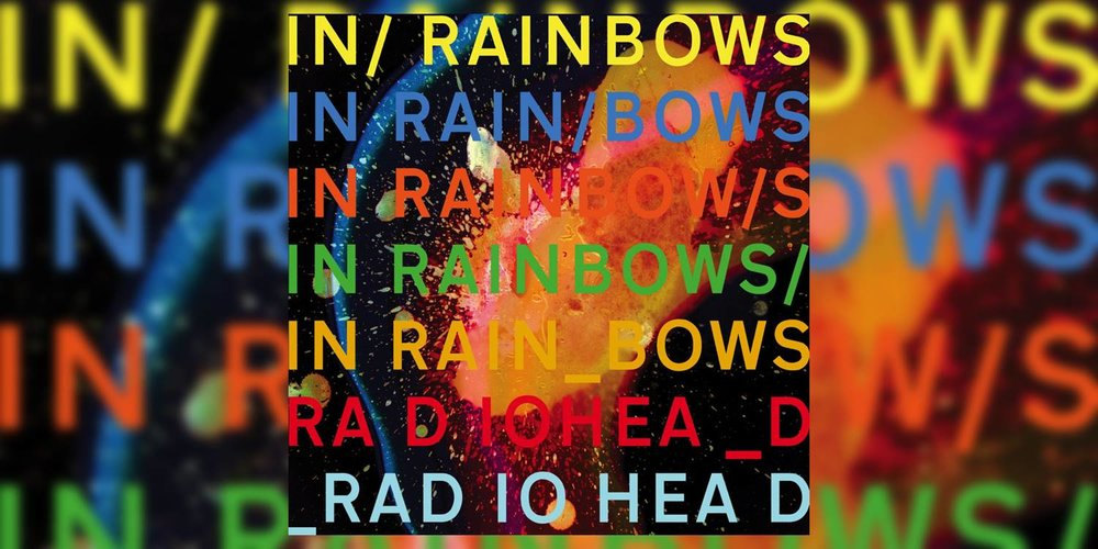 In Rainbows multicoloured album cover