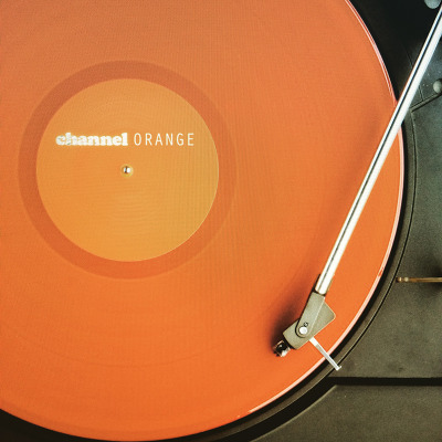 the solid orange artwork of Channel Orange