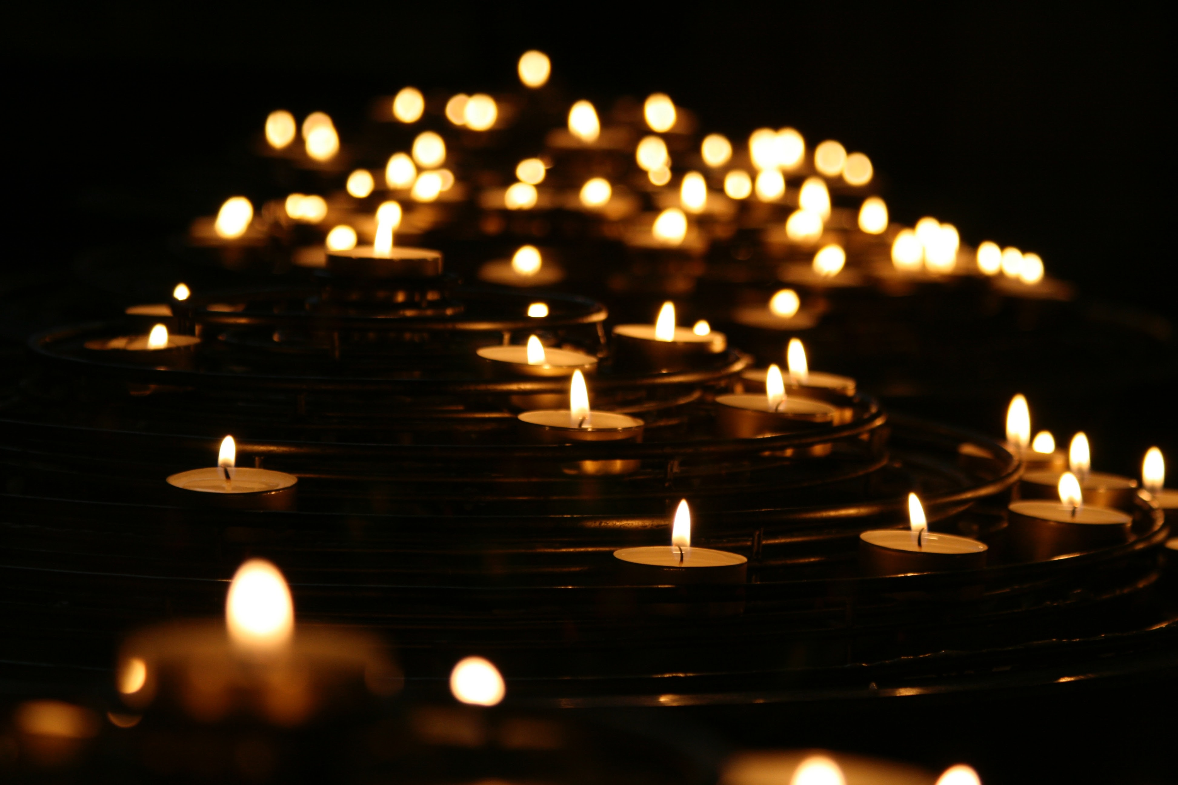 candles representing grief