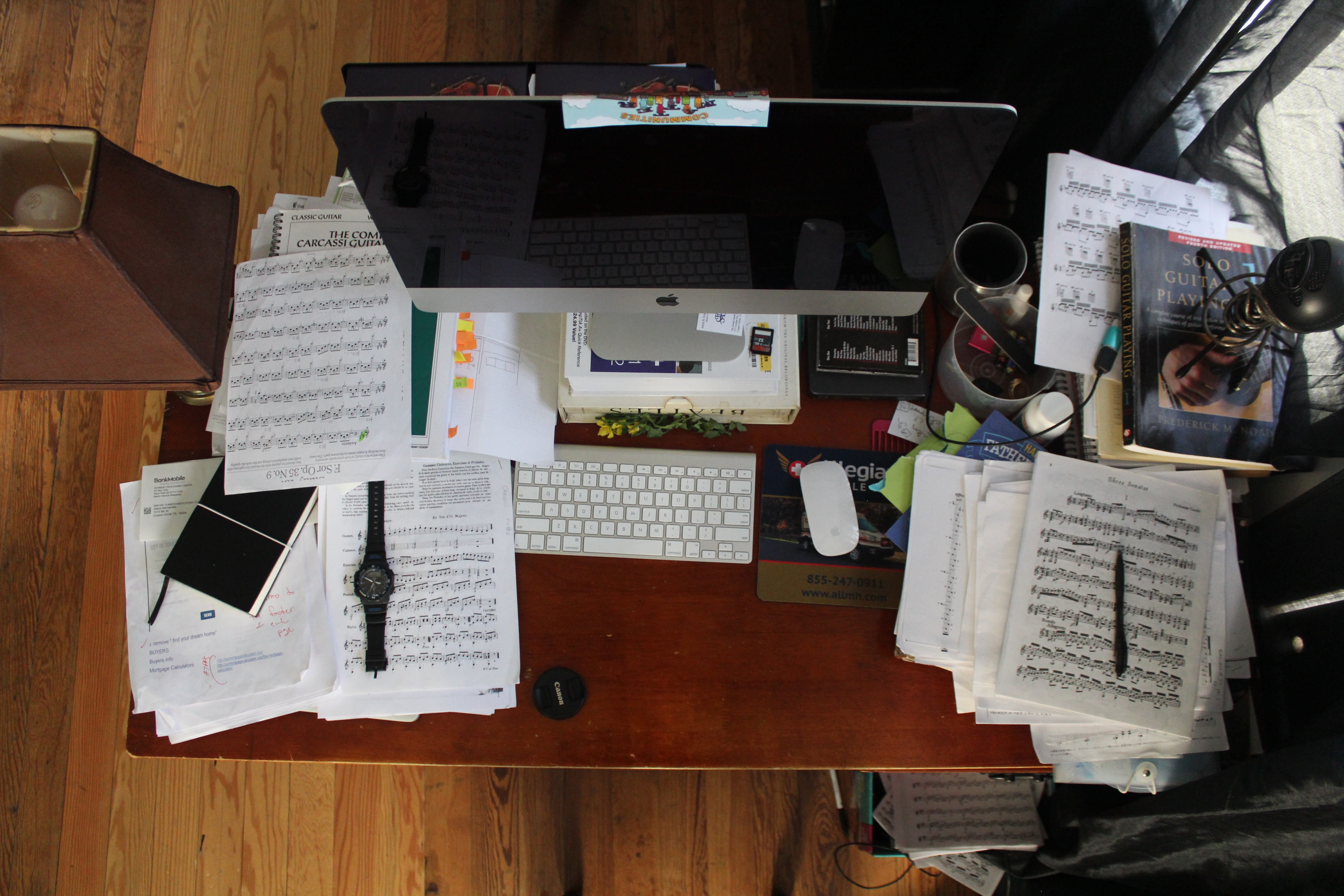 people with ADHD aren't always as organised. A messy office