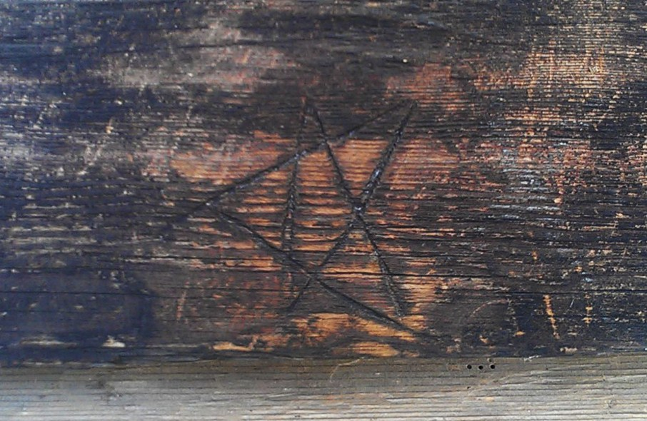 a pentagram witch mark