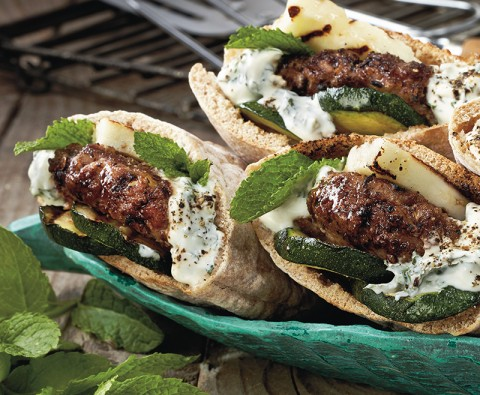 The secret to perfect lamb pitta burgers