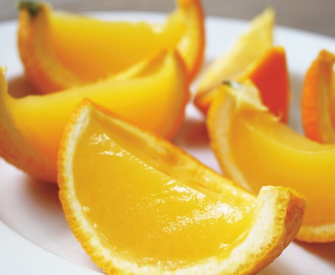 Zesty orange jelly segments recipe
