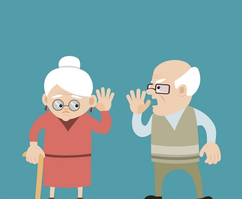 Why do senior citizens ignore their hearing loss?