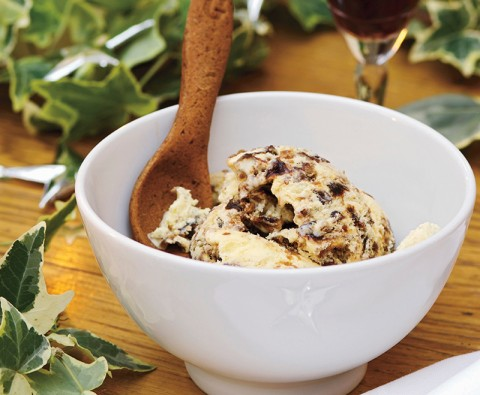 Indulgent Christmas pudding ice cream recipe