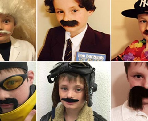 12-year-old's quirky Movember tribute to late grandfather