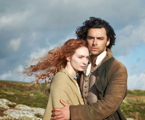 Poldark: Aidan Turner smoulders on the Cornish cliffs