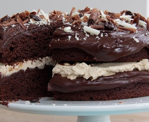 Dreamy chocolate mocha cake
