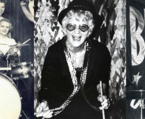 Video: Jerrie Thrill the Rocking 91 Yr. Old Female Drummer