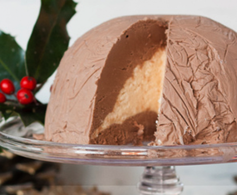Chocolate and Baileys ice cream bombe