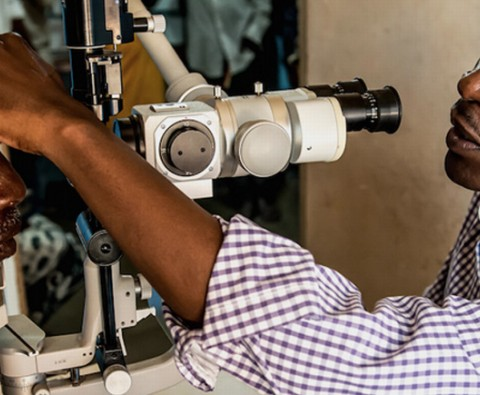Watch as Winesi's eyesight is restored LIVE
