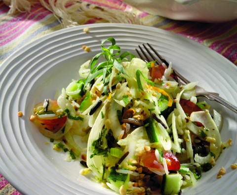Wild rice and fennel salad