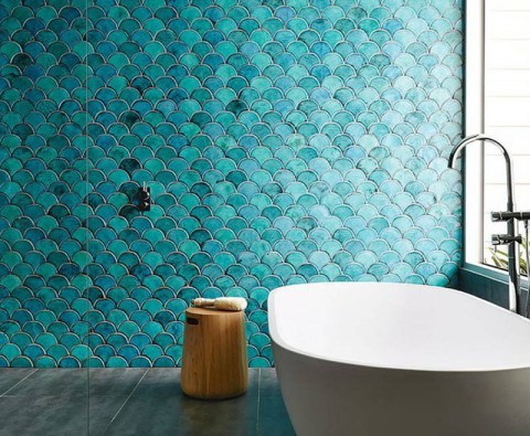 How to make a statement with bold bathroom tiles