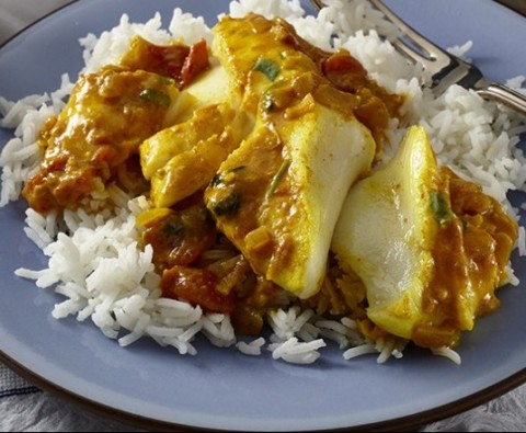 Quick Keralan fish curry