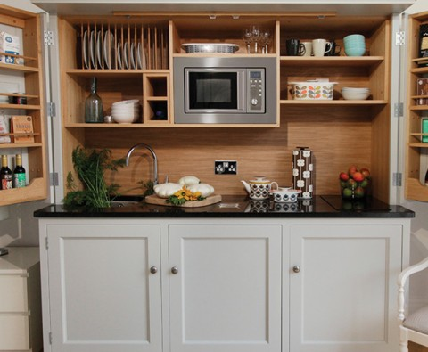How to have an entire kitchen in a cupboard