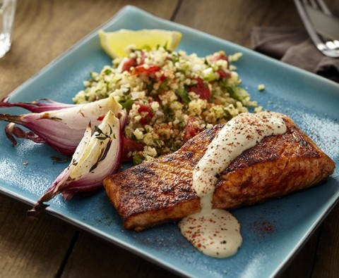 Recipe: Blackened salmon and tabbouleh