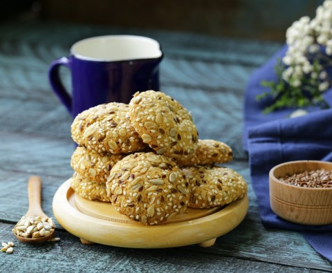 Healthy sunflower biscuits recipe