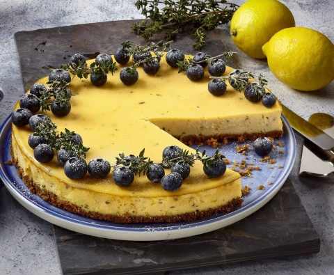 Lemon and thyme ricotta cheesecake recipe