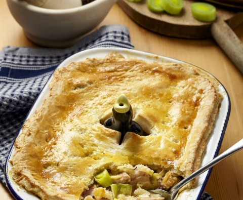 Ham and leek pie recipe