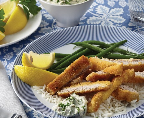 Pork schnitzel and tartare sauce recipe