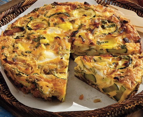Recipe: Courgette and mint frittata