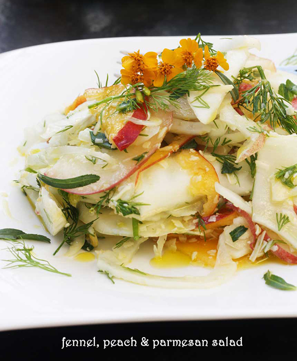 Fennel Peach and Parmesan Salad
