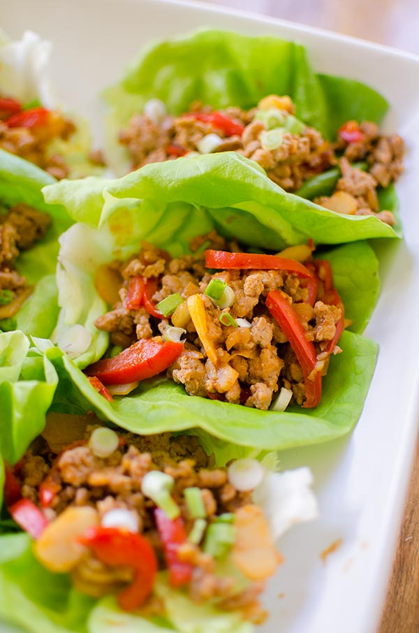 ginger chicken wraps