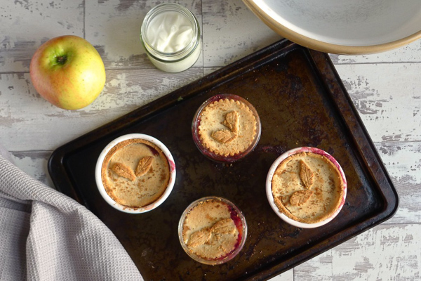 Grain free mini apple and berry pies