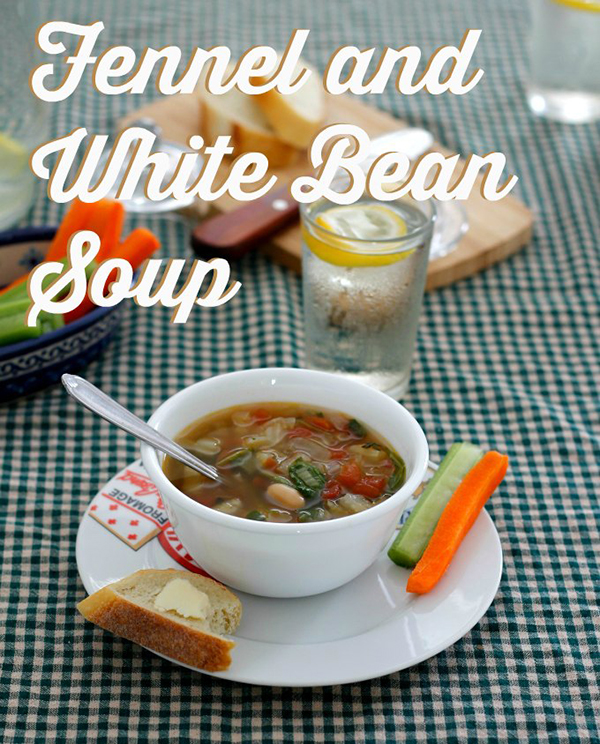 Fennel and white bean soup