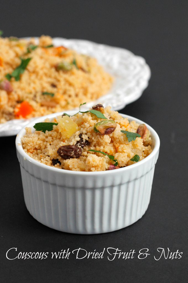 Cous cous with dried fruit and nuts