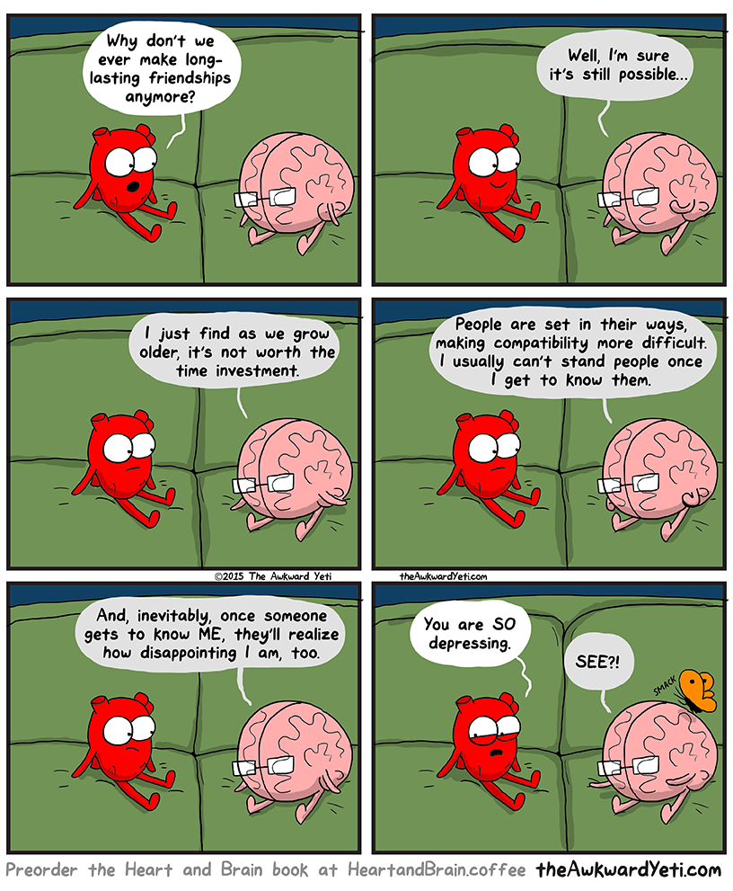 Heart and brain on relationships