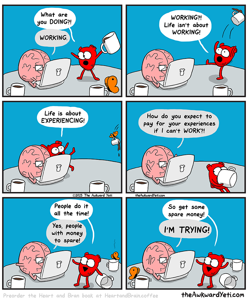 Heart and Brain trying to do work