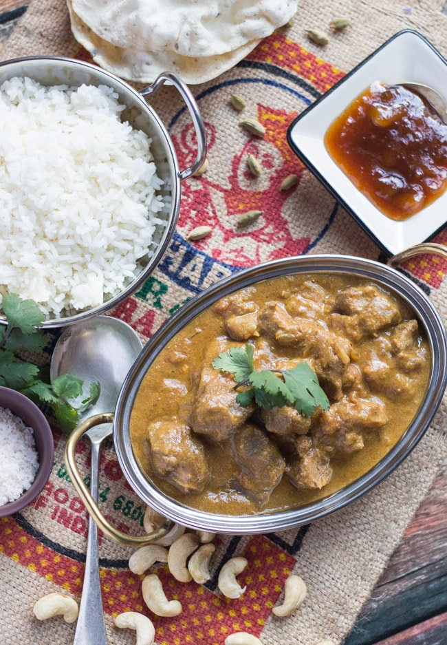 Slow-cooker lamb korma curry
