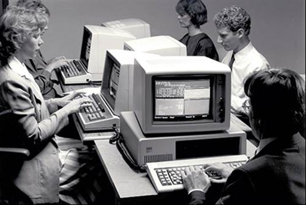 Office computers in the 1980s