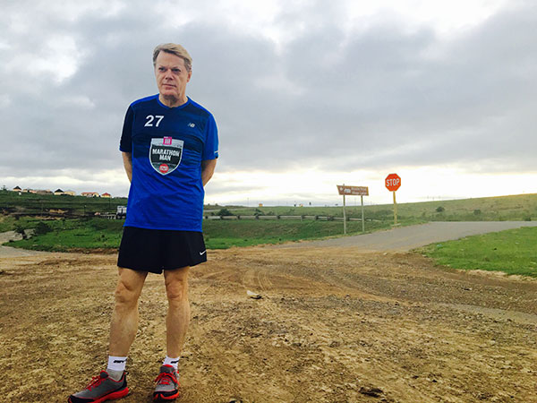 Eddie Izzard 27 marathons in South Africa